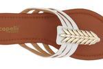 White and Gold Multi Strap Sandal
