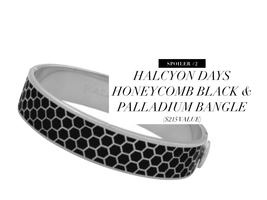 Halcyon Days Honeycomb Black & Palladium Bangle