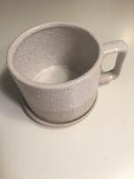 Stoneware mug and coaster