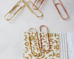 Rose Gold and Peach Paper Clips