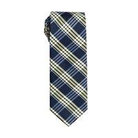 Dark Blue Plaid Tie by Black Lapel