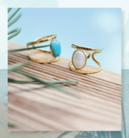 Helles Gold and Turquoise Ring