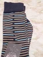 Navy, khaki, light blue patterned socks