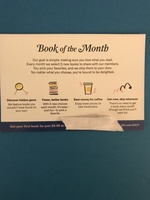 Book Of The Month Club First Book For $9.99