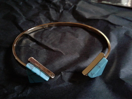 Brass and turquoise arrow bracelet