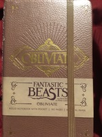 Fantastic beasts and where to find them notebook obliviate