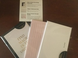 Cloth &a Paper - Notes, Recipe and Card set