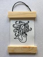 Mermaid desk hanging