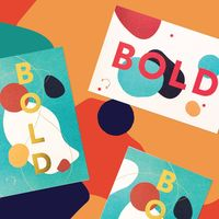 """Two Sided Caterina Bianchini """"Bold"""" print with gold foil"""
