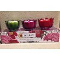 D.L. & Co 3 pc Scallop Set Candles