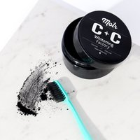 Carbon and coconut tooth whitening powder