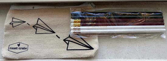 6-Pack Inspirational Pencils & Pencil Bag