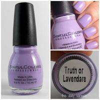 Sinful Colors Truth or Lavendare Demi-matte
