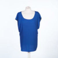 Open Back Woven Top - Blue