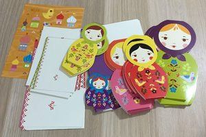 Masha and Friends Nesting Doll Notecards (set of 15)