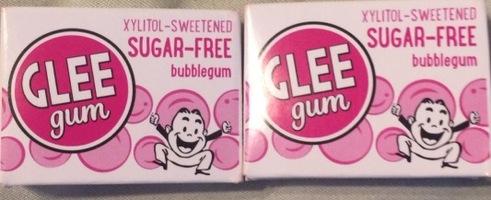 Glee gum sugar free bubble gum