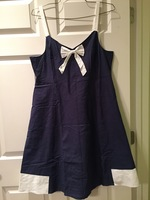 ModCloth Navy Blue/White with Bow size XL dress