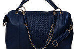 Street Level Woven Satchel - Blue