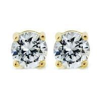 Mia Rose Gold Diamond Simulated Stud Earrings