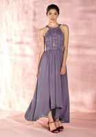 Brave New Whirl Maxi Dress in Lavender - size L