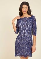 Soieblue blue lace dress in navy - Size L