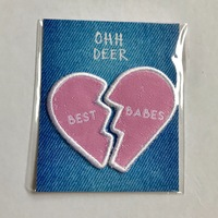 Oh Deer! Best Babes Iron-On Patches Set