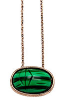House of Harlow 1960 - The Sacred Scarab Pendant Necklace in Rose Gold