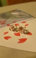 Heart and CZ Stud Earrings