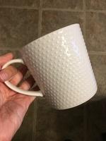Trish Richman white ceramic mugs - set of 2