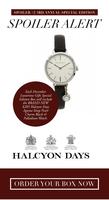 Halcyon Days Agama Strap Pearl Charm Black & Palladium Watch