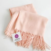 100% cashmere pinky / peach scarf - Mommy Mailbox Exclusive