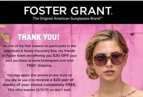 $20 Foster Grant + free shipping