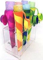 Tie Die Flexible Popsicle Maker/Snack Holders - Set of 4