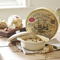 Petite Maison White Brie Baker With Spatula and Gift Box