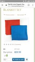 100% organic cotton Muslim blanket - Blue