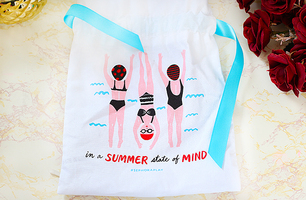 "Sephora Play! Drawstring Bag ""In a Summer State of Mind"""
