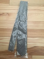 Mosaic Menswear Gray Striped Necktie