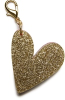 Edie Parker Gold Heart Bag Charm