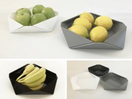 Adva Yehuday of ShapeMixer Faceted Acrylic Fruit Bowl