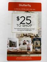 Shutterfly $25 Gift Card
