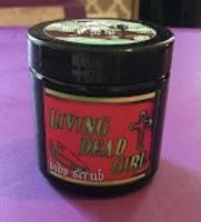 Living Dead Girl Body Scrub Strawberries and Creme Glamour Ghoul Box October