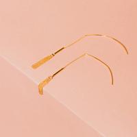 Sterling Forever Gold Fringe Threader Earrings