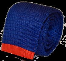 Knit Tie (Navy w/ Accent)