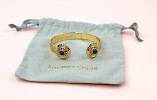 The Byzance Shield Gold Bangle Bracelet