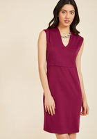 All-Out Allure Sheath Dress in Magenta