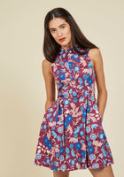 Atlanta Adventure A-Line Dress in Mulberry Floral Burgundy