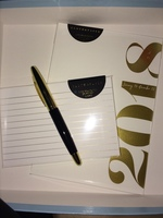Cloth & Paper 2018 Date Book, Gold Foiled Index Cards, and Pen