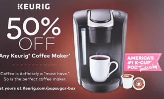 FREE - 50% off any Keurig of your choice