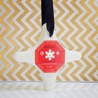 Spongelle Pomegranate Infused Snowflake/Ornament