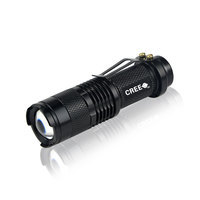 CREE Q5 LED Zoomable 1,000 Lumen Waterproof Mini Flashlight